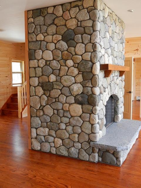 River Stone Fireplace river rock : adirondack natural stone, llc