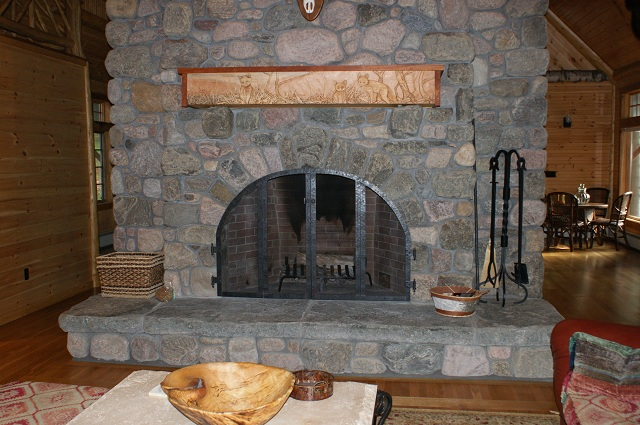 Fireplace Rock river rock : adirondack natural stone, llc